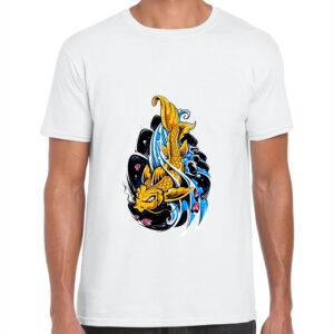 tricou barbati koi fish